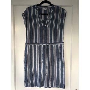 Olive & Oak Linen Striped Dress, Size XS